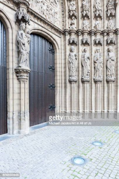 Belgium Antwerp tympanum of the Cathedral of Our Lady 9th may 2015