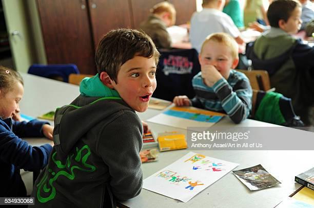Belgium Asse Basisschool Vijverbeek Art in All of Us Awareness program activities in scool boy drawing