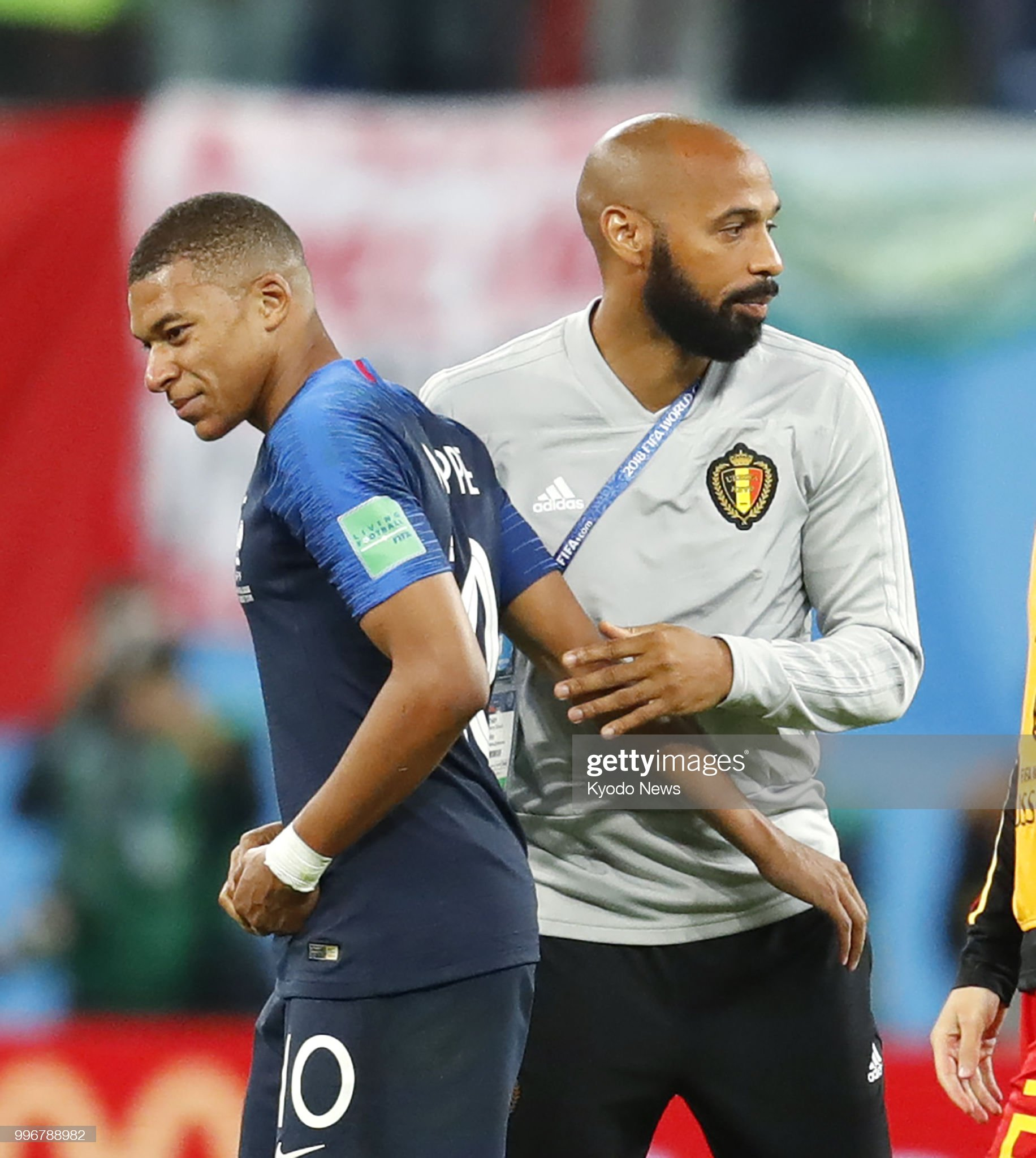 Football: Belgium coach Henry at World Cup : News Photo