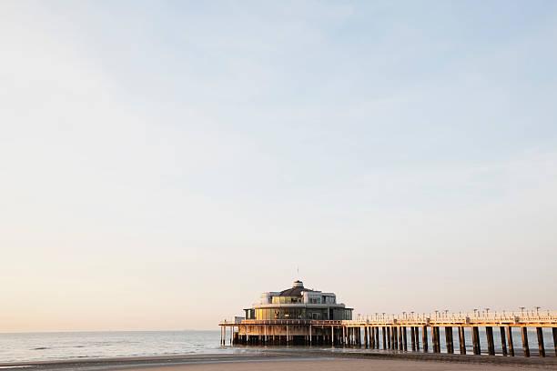 Belgium, Blankenberge, View of pier at North Sea