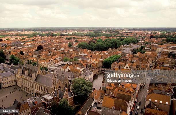 Belgium, Brugge, Bruges, View From Belfort, Belfry, Rooftops.