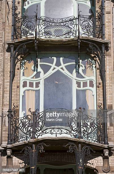 Belgium, Brussels, Ambiorix Square, Maison St Cyr, window and balcony