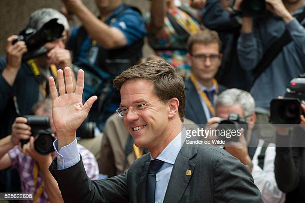 Belgium, Brussels, Arrivals of the heads of state and government at the European Summit. Mark Rutte, PM of the Netherlands