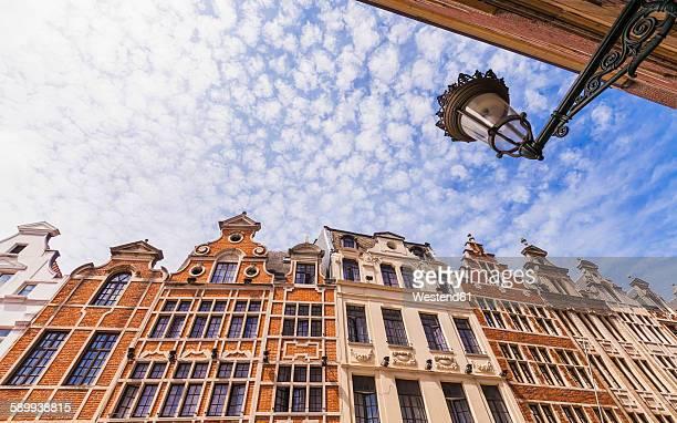 Belgium, Brussels, historical houses, row of houses, candelabrum