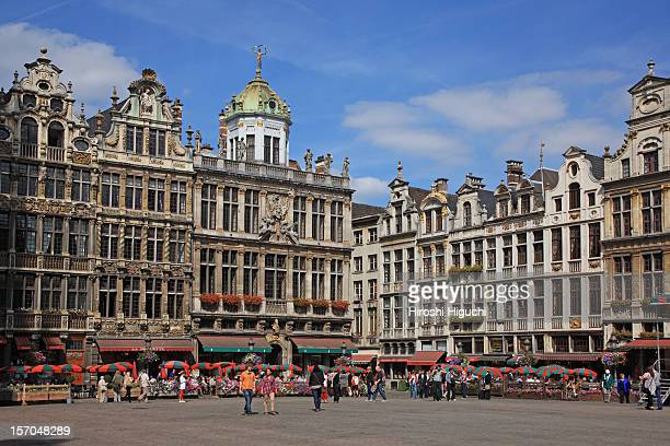 belgium, brussels, la grand place - brussels capital region stock pictures, royalty-free photos & images