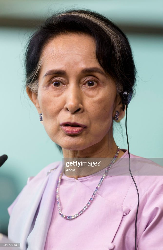 State Counsellor of Myanmar Aung San Suu Kyi. : News Photo
