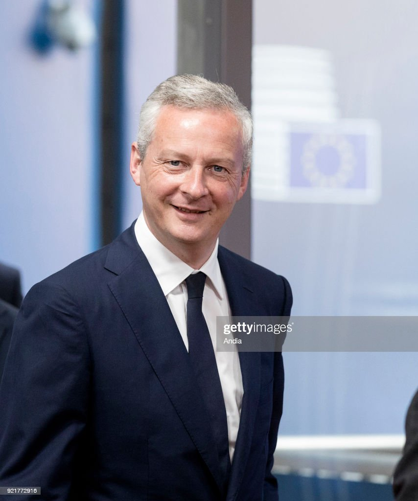 Bruno Le Maire, French Minister of the Economy, attending a Council of the European Union.