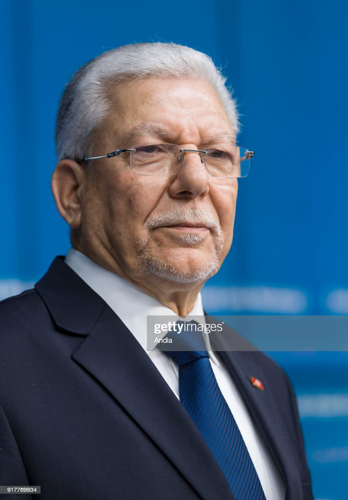 Tunisian Minister of Foreign Affairs Taieb Baccouche attending the meeting of the EU-Tunisia Association Council.