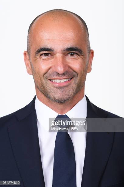 Belgium coach Roberto Martinez poses for a portrait during the official FIFA World Cup 2018 portrait session at the Moscow Country Club on June 14...