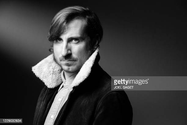 Belgium director Wouter Bouvijn poses for a photo session during the 3rd edition of the Cannes International Series Festival in Cannes, southern...