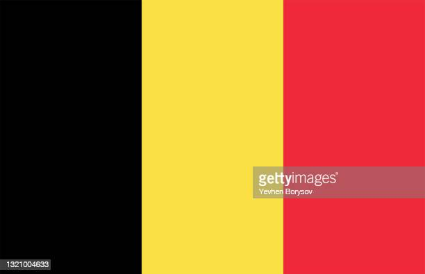 belgium flag simple illustration for independence day or election - flag stock pictures, royalty-free photos & images