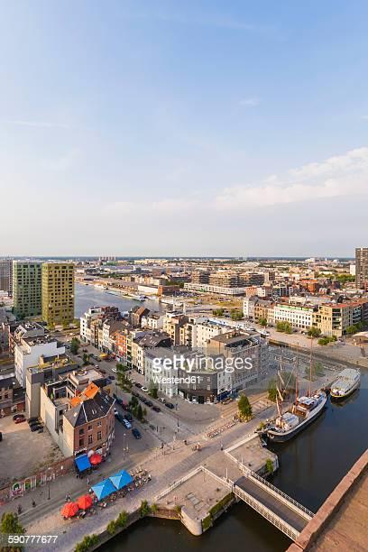 Belgium, Flanders, Antwerp, View to Eilandje, former dock area, hotspot