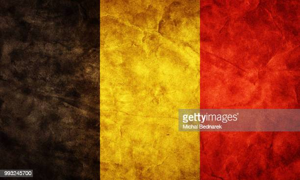 belgium grunge flag. item from my vintage, retro flags collectio - modern rock stock pictures, royalty-free photos & images