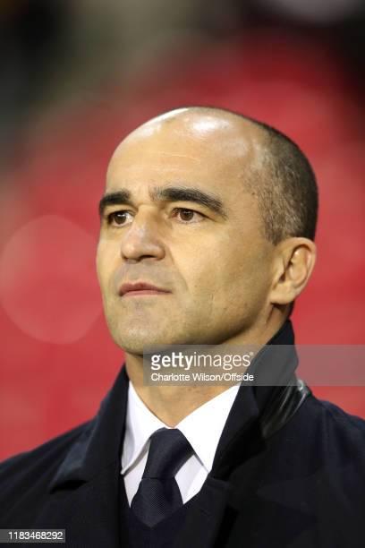 Belgium manager Roberto Martinez during the UEFA Euro 2020 Qualifier between Belgium and Cyprus on November 19 2019 in Brussels Belgium