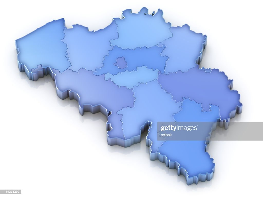 Belgium Map With Provinces Stock Photo Getty Images