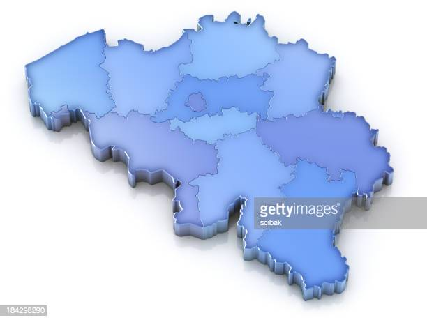 Belgium map with provinces