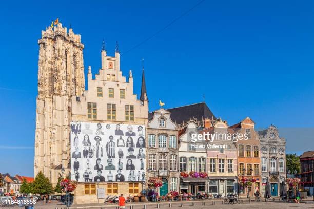belgium, mechlin - grote markt - mechelen stock pictures, royalty-free photos & images