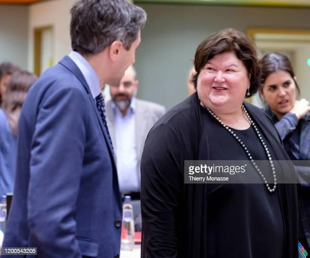 Belgium Minister of Health Maggie Celine Louise De Block arrives for an emergency EU health ministers meeting on 2019 novel coronavirus in the EU...