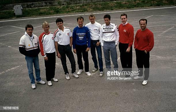 Belgium Motorcycle 500 Cc Grand Prix 1989 En Belgique sur le circuit de SpaFrancorchamps le 26 juin 1989 à l'occasion du Grand Prix de moto 500 cc...