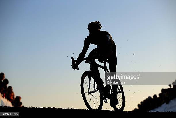 Belgium National Champion Sven Nys starts his final lap during the UCI Cyclocross World Cup in Campbell Park on November 29, 2014 in Milton Keynes,...