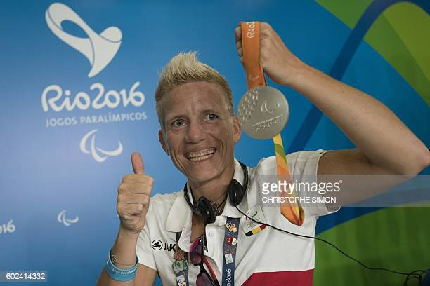 Belgium Paralympic athlete Marieke Vervoot gives a press conference to defend her decision to undergo euthanasia after the Games in the framework of...