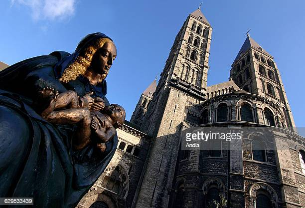 Belgium, Province of Hainaut , Notre Dame Cathedral in Tournai , dating back to the XIIth - XIIIth century, combination of Roman and Gothic style.