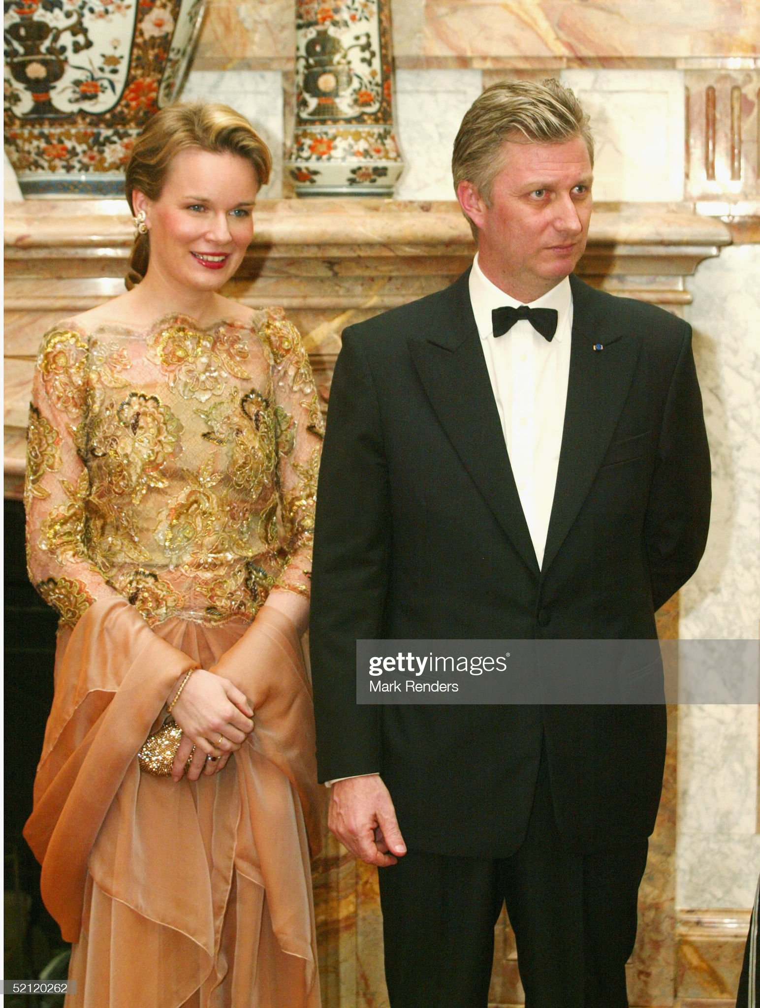 Вечерние наряды Королевы Матильды President of Greece State Visit To Belgium : News Photo