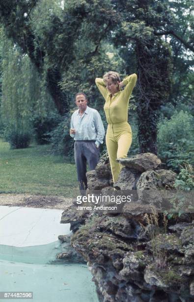 Belgium singer cabaret artist and actress Annie Cordy with her husband and mentor Bruno