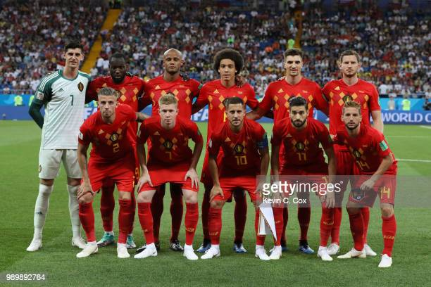 Belgium team pose for a team photo prior to the 2018 FIFA World Cup Russia Round of 16 match between Belgium and Japan at Rostov Arena on July 2 2018...