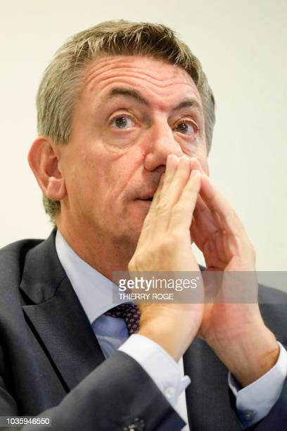 Belgium vice Prime Minister and Interior Minister Jan Jambon attends a session of the Chamber Commissions for Interior Affairs at the federal...