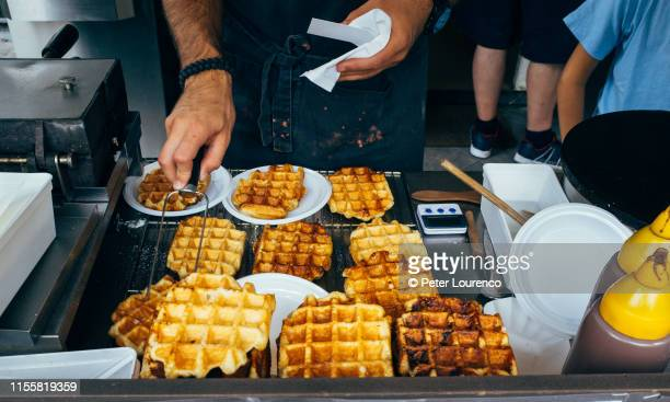 belgium waffles - peter lourenco stock pictures, royalty-free photos & images