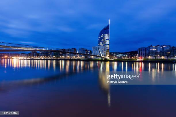 belgium, wallonia, liege, reflections in meuse river - meuse river stock photos and pictures