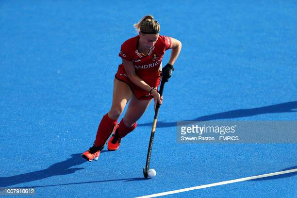 Belgium's Alix Gerniers in action Belgium v Spain Women's Hockey World Cup 2018 Crossover Stage Lee Valley Hockey Tennis Centre