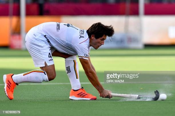 Belgium's Arthur van Doren pictured in action during a hockey game between Belgian national team The Red Lions and England game 2/3 in Pool A of the...