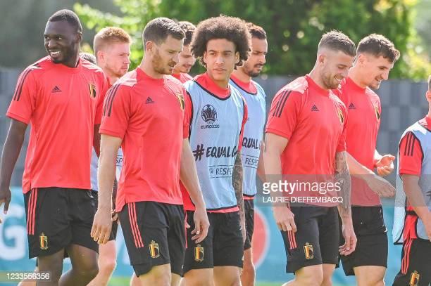 Belgium's Christian Benteke, Belgium's Kevin De Bruyne, Belgium's Jan Vertonghen, Belgium's Axel Witsel, Belgium's Nacer Chadli, Belgium's Toby...