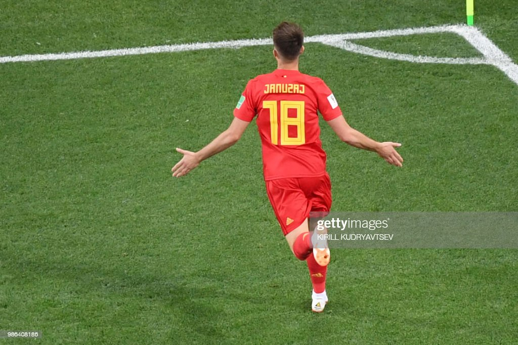 TOPSHOT-FBL-WC-2018-MATCH45-ENG-BEL : News Photo