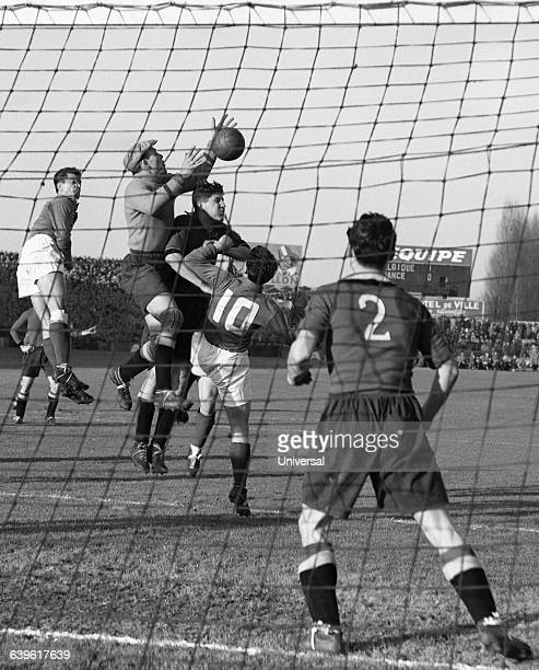 Belgium's goalkeeper Armand Seghers during a friendly match between France and Belgium