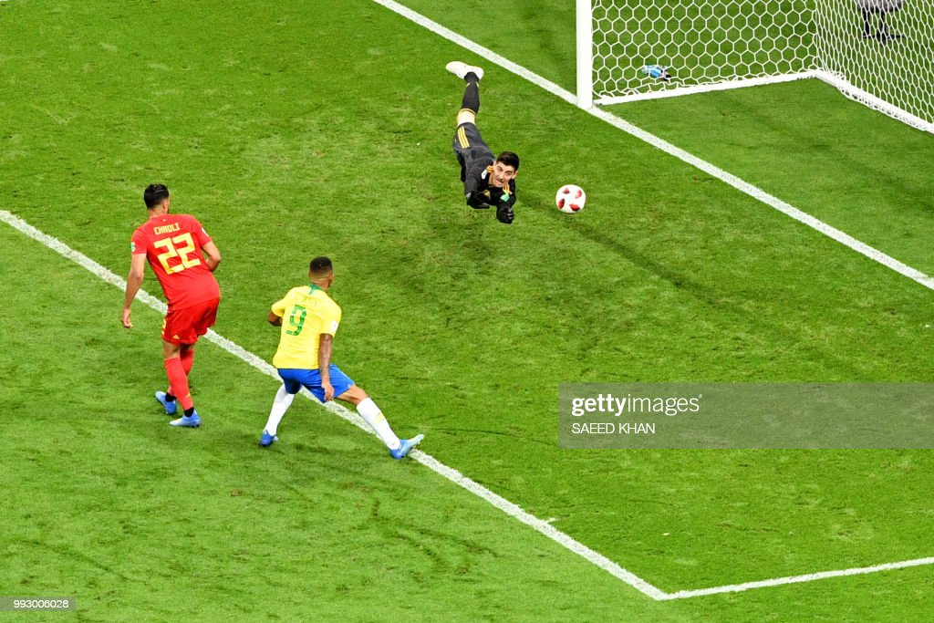 FBL-WC-2018-MATCH58-BRA-BEL : News Photo