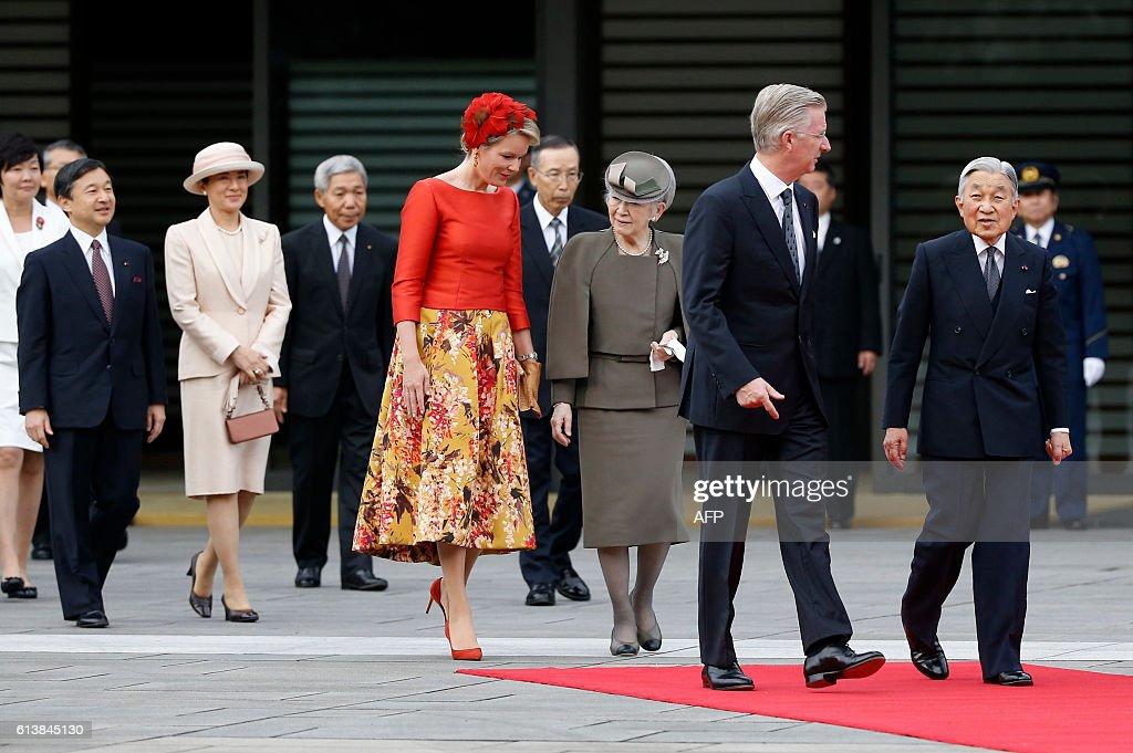 JAPAN-BELGIUM-ROYALS-DIPLOMACY : News Photo