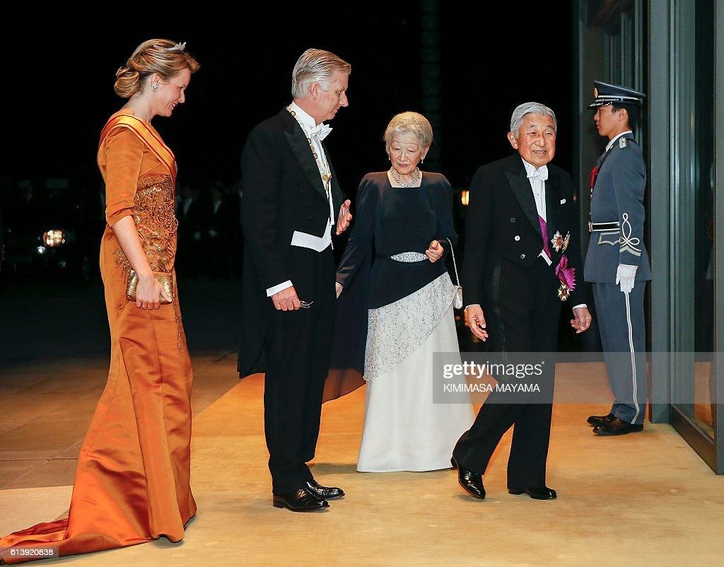 JAPAN-BELGIUM-DIPLOMACY-ROYALS : News Photo