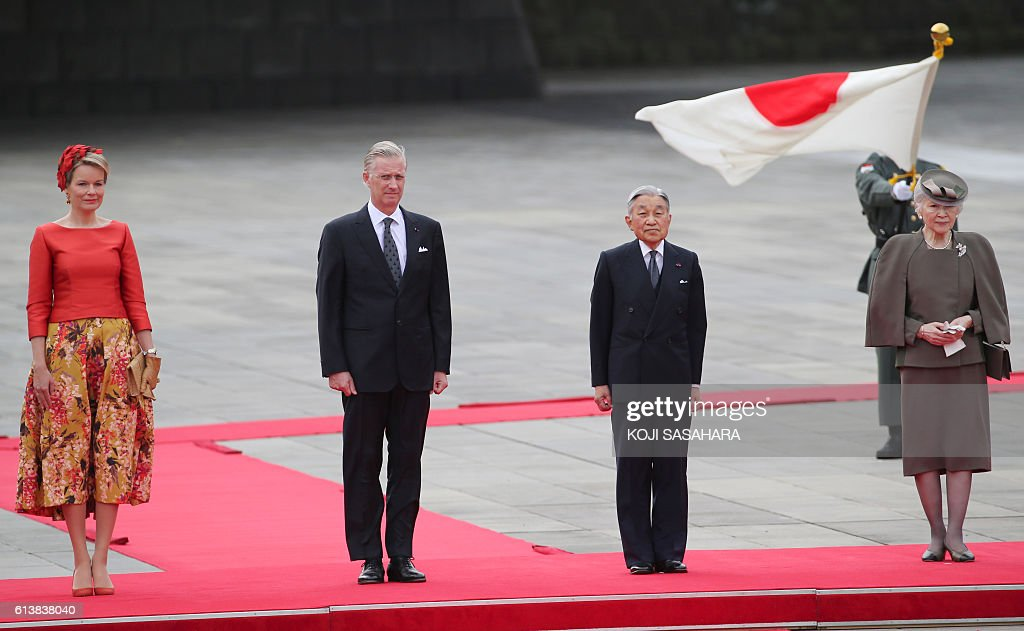 JAPAN-BELGIUM-ROYALS-DIPLOMACY : News Photo