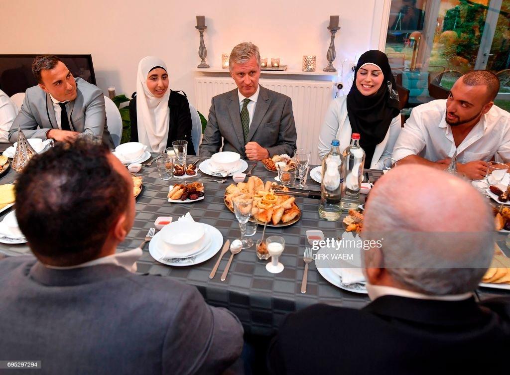 BELGIUM-POLITICS-RELIGION-ISLAM-ROYALS : News Photo