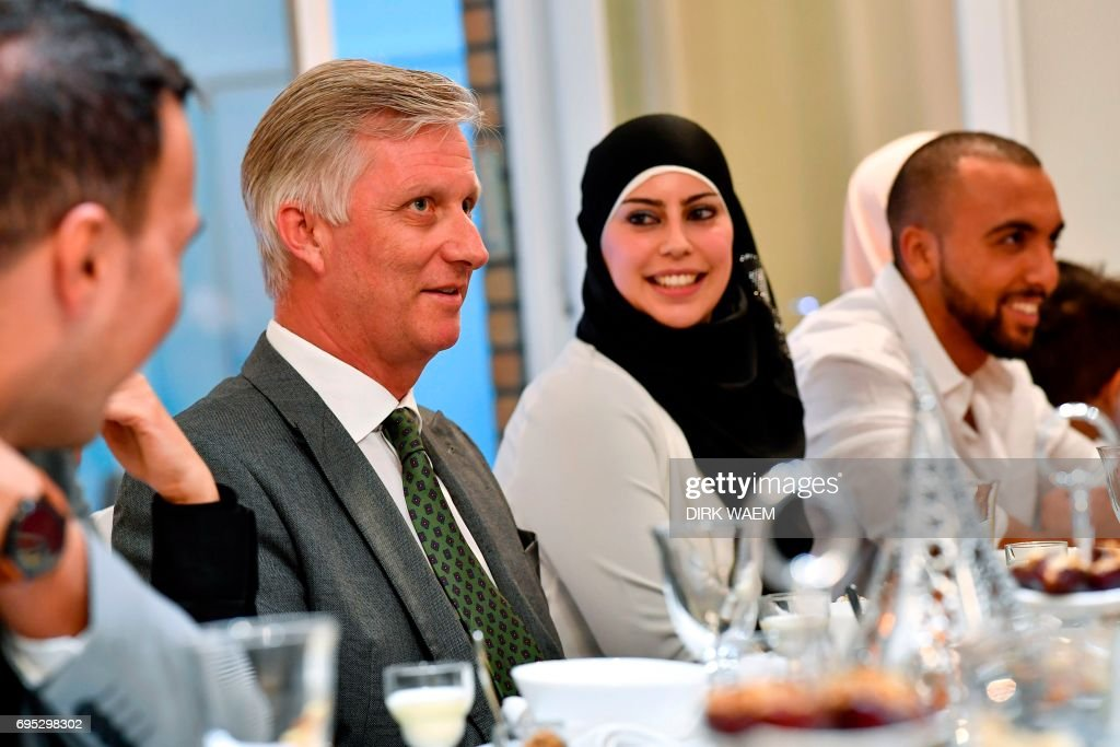 BELGIUM-POLITICS-RELIGION-ISLAM-ROYALS : News Photo