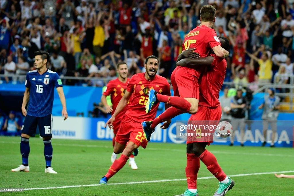 FBL-WC-2018-MATCH54-BEL-JPN : News Photo