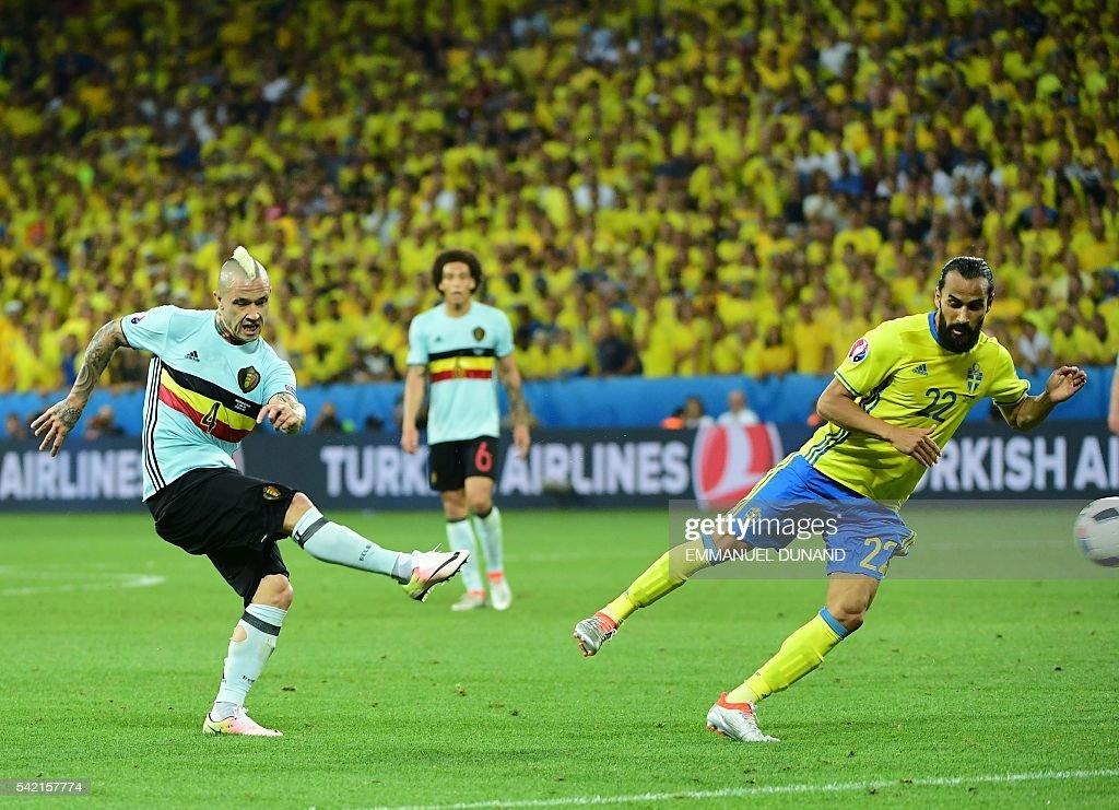 FBL-EURO-2016-MATCH36-SWE-BEL : News Photo