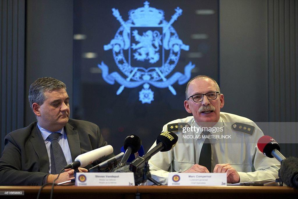 Belgiums minister of defence and public service steven vandeput l