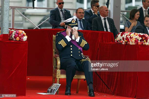 Belgium's Prince Laurent attends the Military Parade to celebrate Belgium's National Day on July 21, 2016 in Brussels, Belgium.