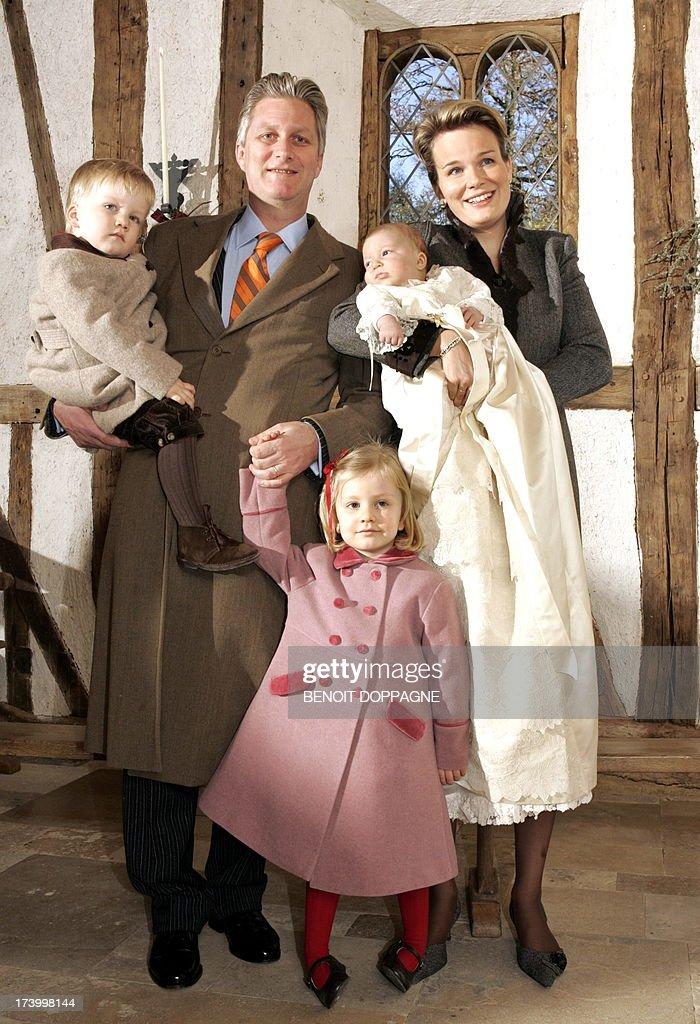 BELGIUM-ROYALS-BAPTISM-PRINCE EMMANUEL : News Photo