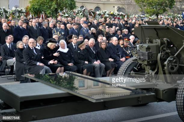 Belgium's Princess Astrid Prince Lorenz Prince Charles of Britain Former Spanish Royals Queen Sofia and King Juan Carlos I Sweden's King Carl XVI...