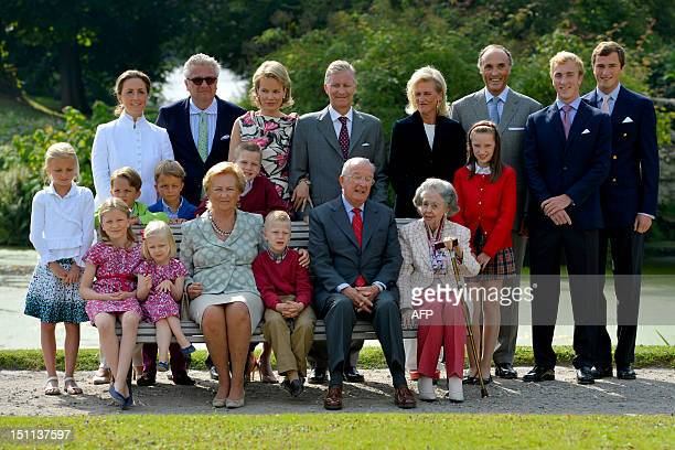 Belgium's Princess Claire Prince Laurent Princess Mathilde Crown Prince Philippe Princess Astrid Prince Lorenz Prince Joachim Prince Amedeo Princess...